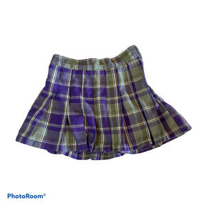 PLACE Girls 10 Purple Plaid Skirt